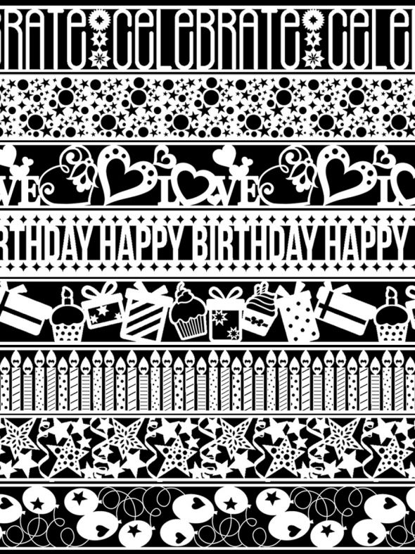 Let's Celebrate Laser Cut Borders