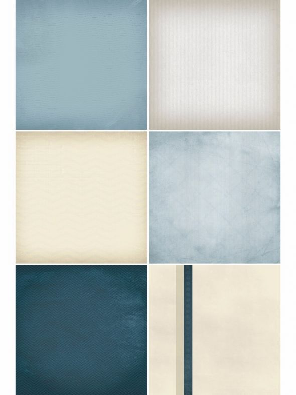 Clean Slate Blue Designer Refill Pages - Set 18