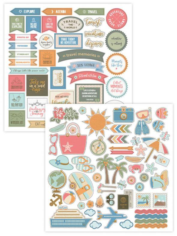 Vacation Memories Stackable Stickers